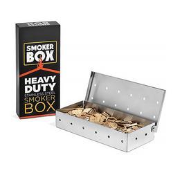 Microplaquetas de madeira churrasco caixa fumante para interior ao ar livre carvão a gás churrasco grill carne infundido fumaça sabor acessórios fumante caixa
