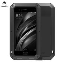 LOVE MEI For Funda Xiaomi Mi 6 Case Aluminum Metal ShockProof Luxury Heavy Phone Cases For