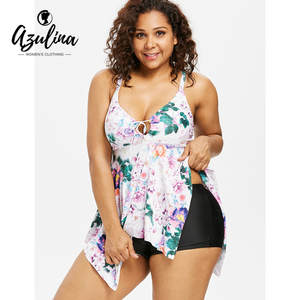 882cab2005afb AZULINA Plus Size Women Summer Two Piece Sets Clothes