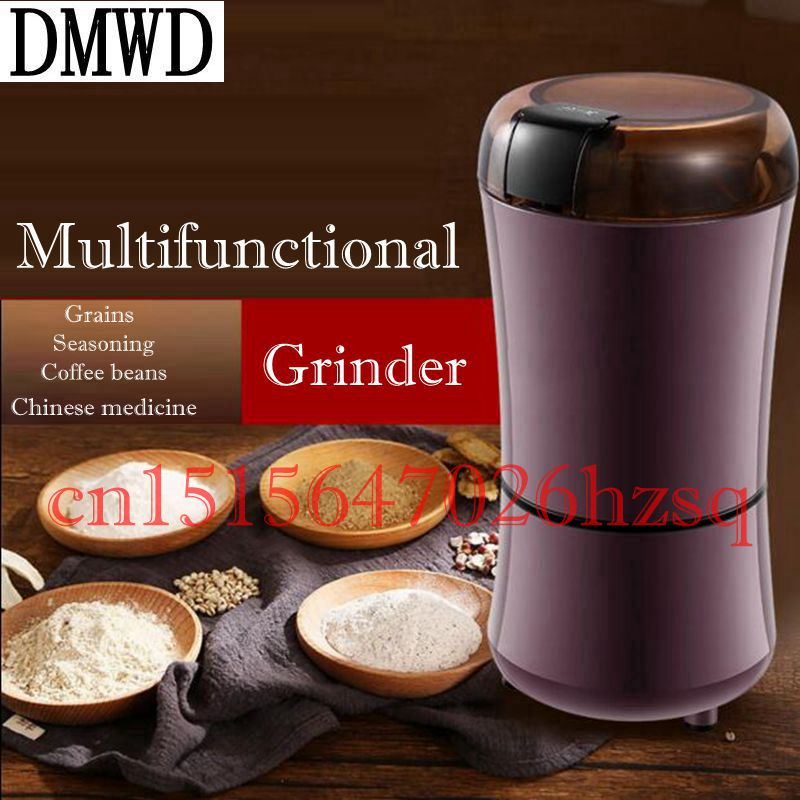 DMWD 150W household automatic multifunction Grinder Stainless Steel Blades herbs mill beans nuts/coffee beans grinding machine yf200 stainless steel automatic grinding mill herbs grinder machine with high quality can grind stone 220v 50hz