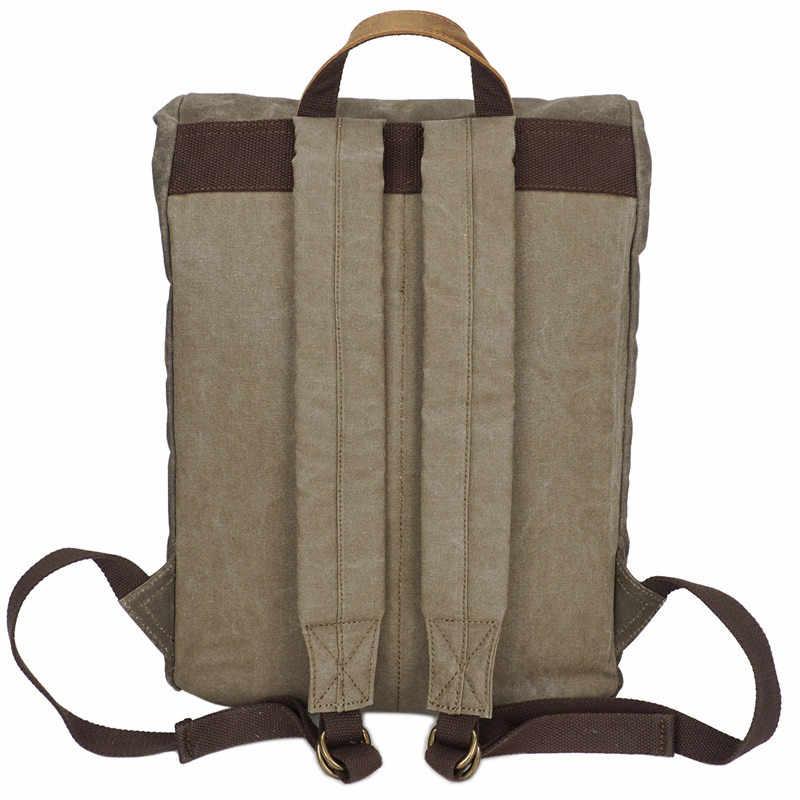 """Nesitu Высокое качество Водонепроницаемый Винтаж армейский зеленый серый хаки холст женские и мужские рюкзаки 14 """"ноутбук мужские дорожные сумки M5162"""
