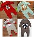 Recém-nascido animais de lã do bebê camisola Romper meninos menina roupas ropa bebes mameluco macacão disfraz navidad bebe barboteuse