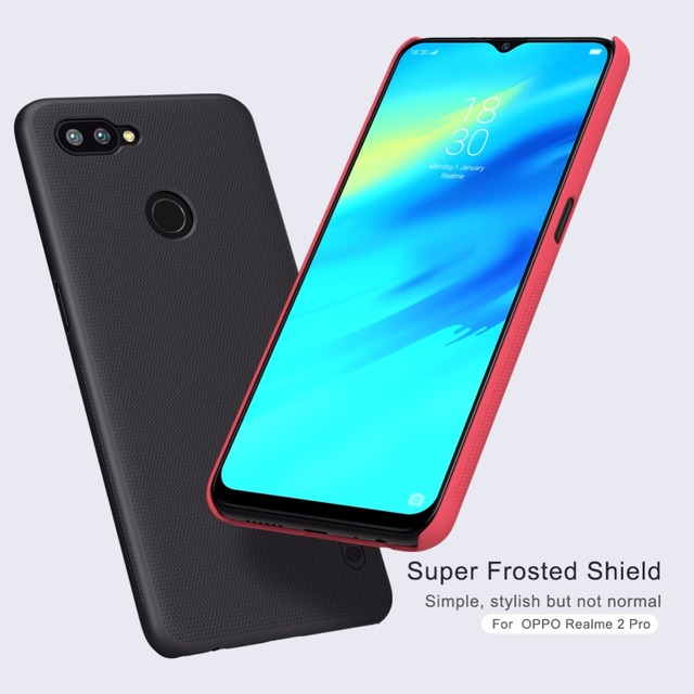 100% authentic b8b29 1ccd2 US $7.99 5% OFF|OPPO Realme 2 Pro Case Cover NILLKIN Super Frosted shield  Back Cover or OPPO Realme 2 Pro Case Matte Frosted shield Case-in Fitted ...