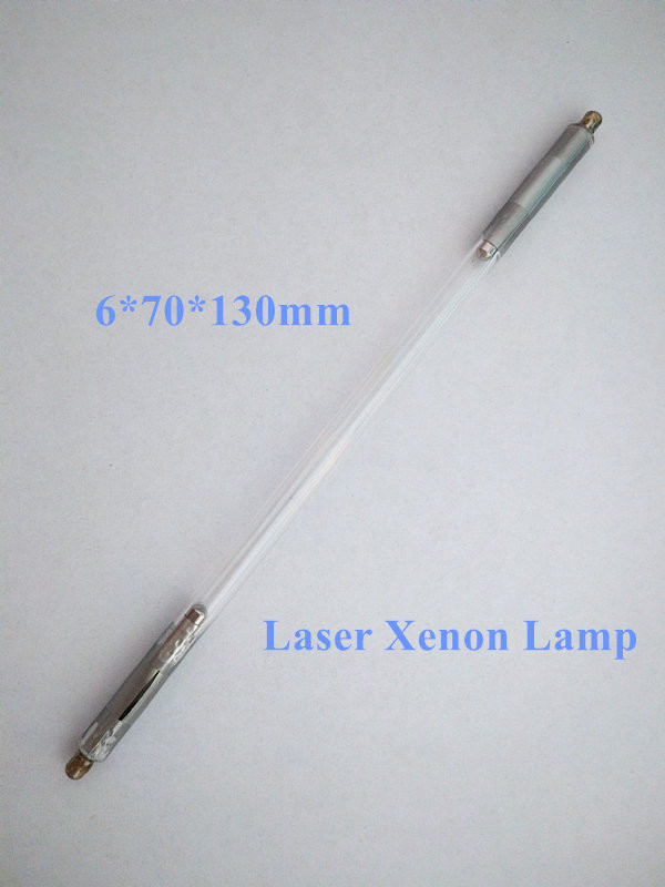 cheap laser xenon lamp 6*70*130mm for nd yag laser handle and tattoo removal machine