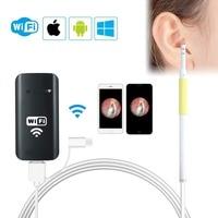 WiFi USB Ear Endoscope Wireless Digital Ear Cleaning Endoscope 1.3MP 720P HD Ear Scope Camera With 6 LED Earwax Removal For IOS