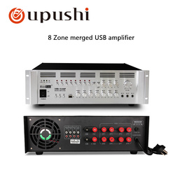 1200W Big Power Amplifier For PA System 220V USB 8 Zone Control Mixer Amplifiers