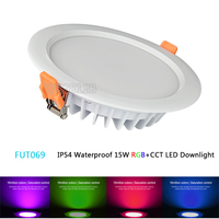 FUT069 Milight 15W IP54 Waterproof RGB CCT LED Downlight Dimmable AC86 265V Round Reccessed Light 2