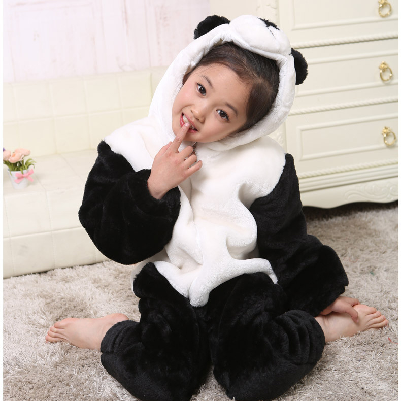 Halloween Carnaval Animal Panda Costumes for Kids Rompers Toddler Costumes Boys Girl Clothing Set Infant One-pieces Long Pants