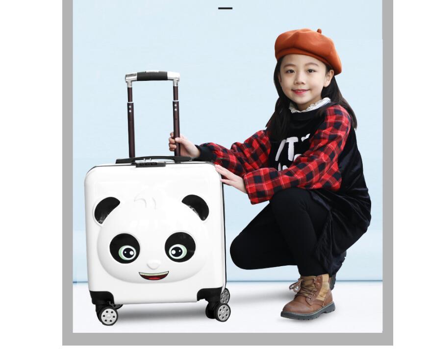 Panda Kid bagaglio valigia Trolley borse Da Viaggio su ruote Bambino ruote portare avanti bagaglio Spinner Bambini valigia di Rotolamento per il Ragazzo-in Valigia a rotelle da Valigie e borse su  Gruppo 3