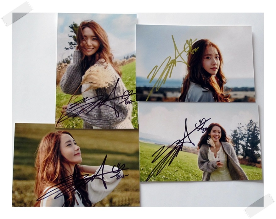 SNSD Yoona  autographed signed original photo photos set  4*6 inches collection new korean  freeshipping 03.2017 signed snsd yoona autographed original photo holiday night 6 inches 56versions free shipping 082017