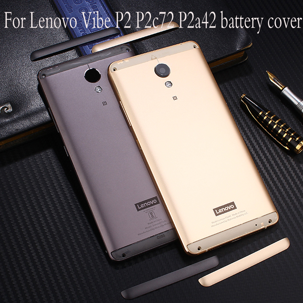 Official Original Metal Cover Case For Lenovo Vibe P2 P2c72 P2a42 Back Battery Cover Housing Replacement Parts