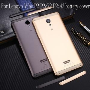Image 1 - Étui de métal dorigine officielle pour Lenovo Vibe P2 P2c72 P2a42 pièces de remplacement du boîtier de la batterie arrière