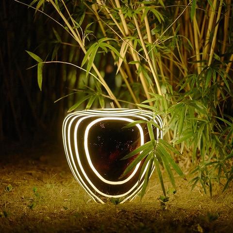 parque imitacao natural luz do jardim da resina