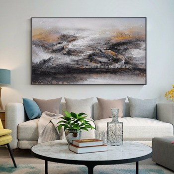 Modern Abstract Style Canvas Painting Acrylic Hand Painted Wall Art Pictures for Living Room Home Decor Cuadros Decoracion