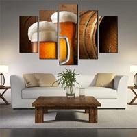 5 шт. холст картины пить пиво плакаты Unframed Wall Art фотографии Quadro decorativo для гостиной pb-04