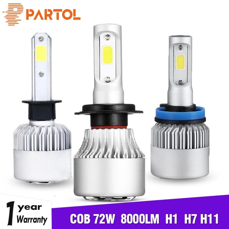 Car Lights Oslamp H7 Led Bulbs Cob Chips 72w 8000lm Led H7 Car Headlight 6500k Automobile Car Lamp H7 Led For Renault Suv Kadjar
