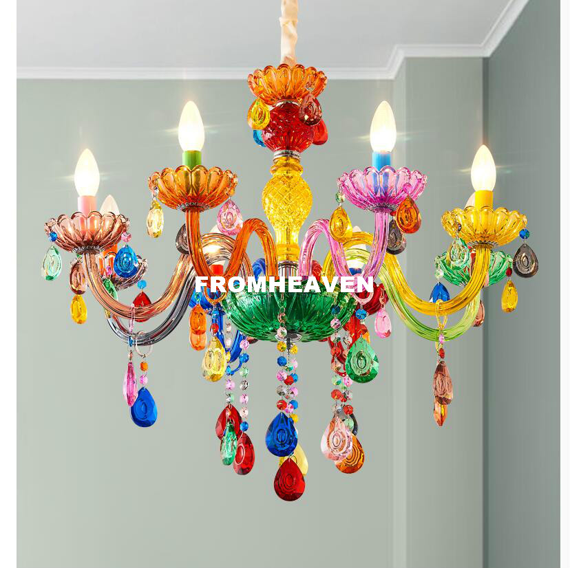 Free Shipping Makaron Colorful Crystal Chandelier Hanging Lights Crystal Decora Lighting AC Guaranteed 100% Crystal Pendant LampFree Shipping Makaron Colorful Crystal Chandelier Hanging Lights Crystal Decora Lighting AC Guaranteed 100% Crystal Pendant Lamp