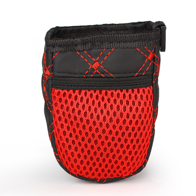 Universal Red Grid Net Car Outlet Storage Bag Phone Holder Pocket Organizer Car Styling Auto Assessories 4