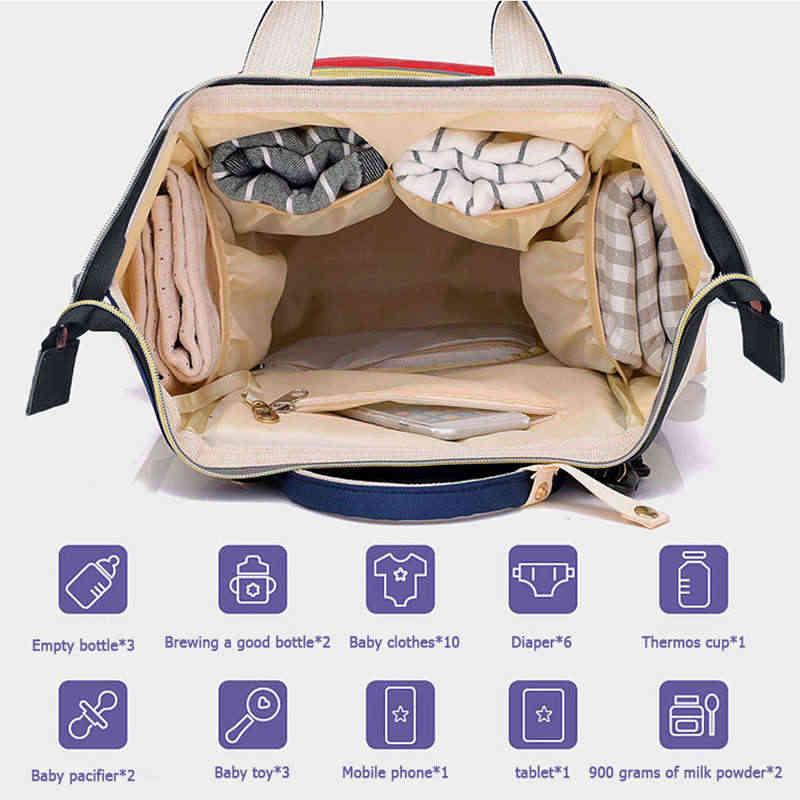 Moda mumia macierzyństwo pieluszka torba duża pojemność torba na pieluchy dla niemowląt torba podróżna plecak dla dzieci torby do pielęgnacji niemowląt moda damska torba