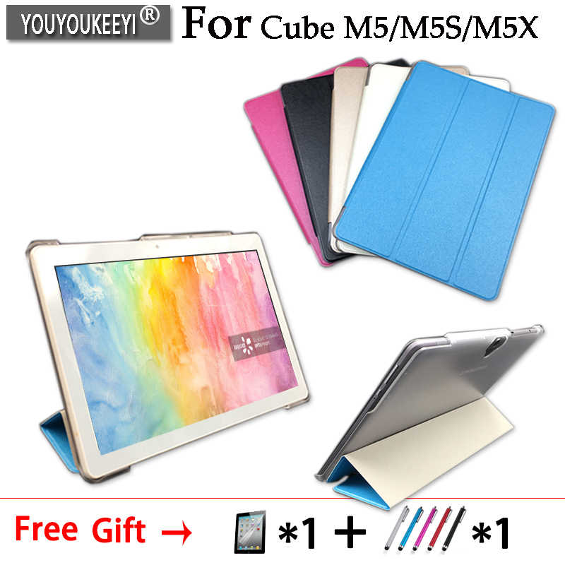 Ultra Slim PU case stand cover For Alldocube M5/M5S/M5X 10.1inch tablet 5 colors +Protective film+Stylus