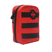 Red First Aid Empty Bag Outdoor Wilderness Mini First Aid Pouch Medical Bag Military Kit Hiking