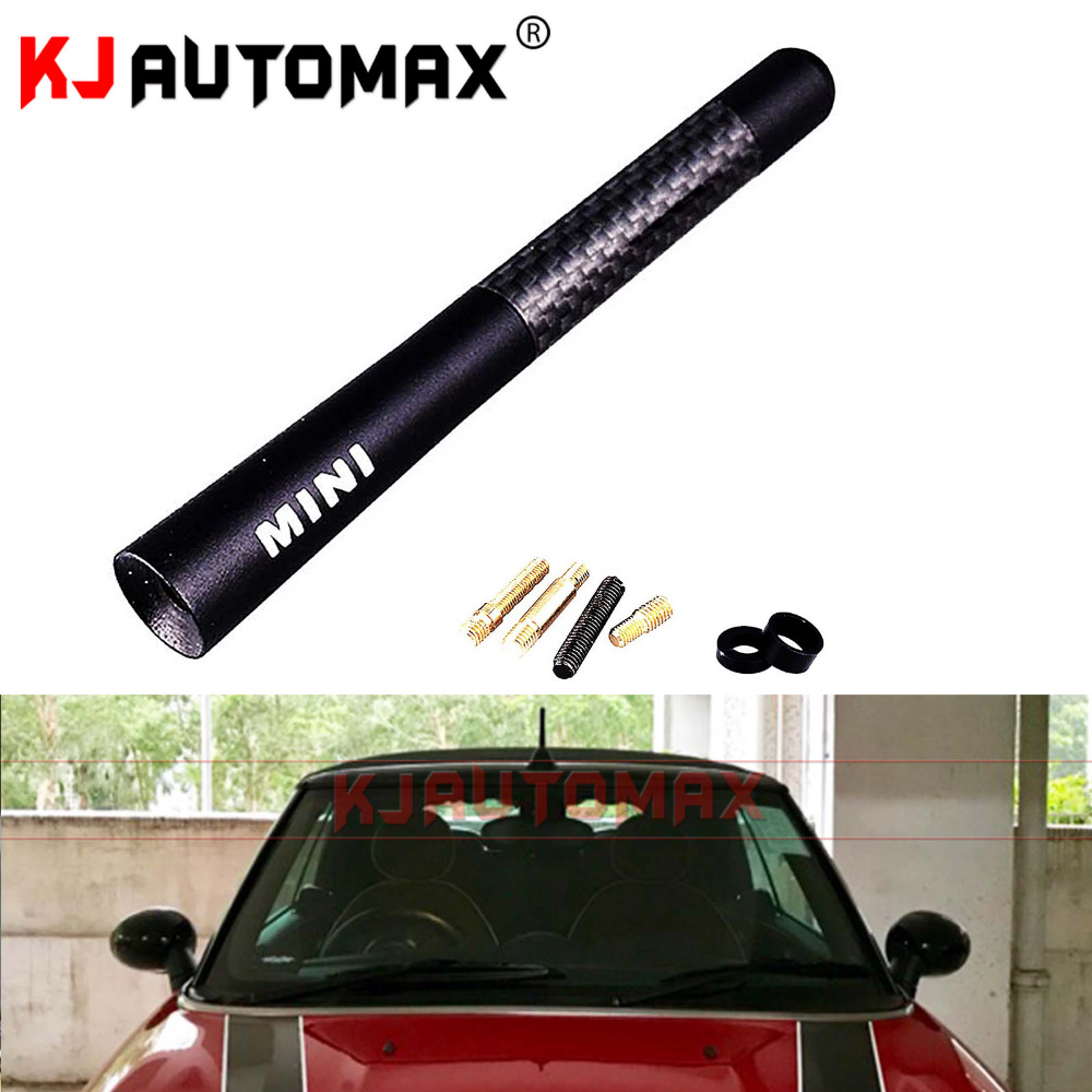 For Mini Cooper Carbon Fibre Fiber Car Styling Roof Antenna Aerial