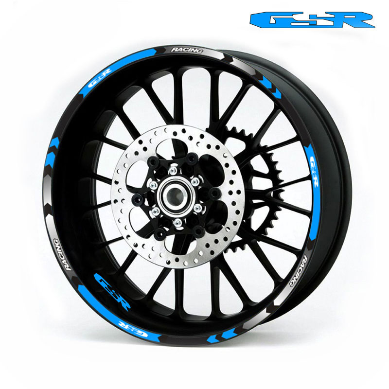 Лидер продаж колеса мотоцикла таблички светоотражающие наклейки обода в полоску R руль для SUZUKI GSXR GSX R GSR
