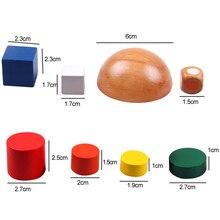 Wooden Geometric Blocks kids Balancing Game toys