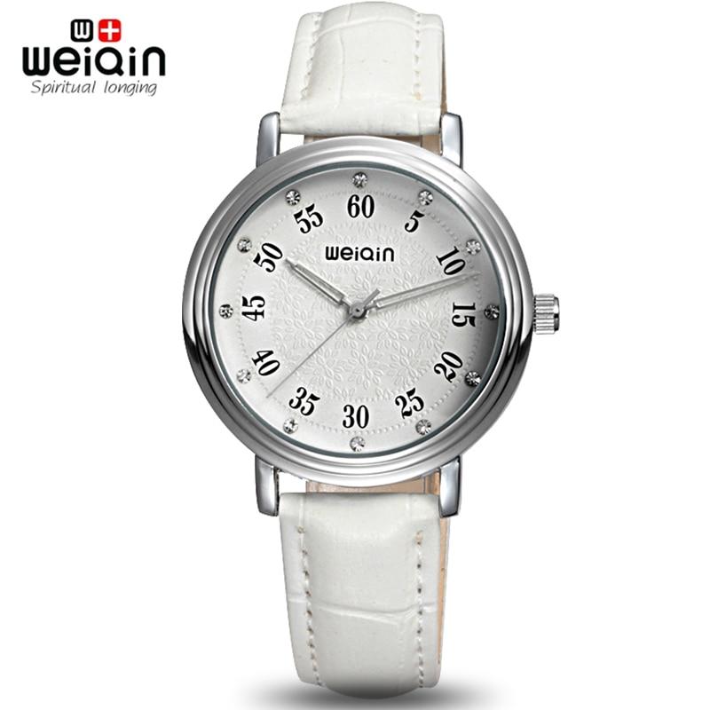 WEIQIN 2017 New Fashion Ladies Leather Crystal Diamond Rhinestone Watches Women Beauty Dress Quartz Wristwatch Hours Reloj Mujer weiqin new 100