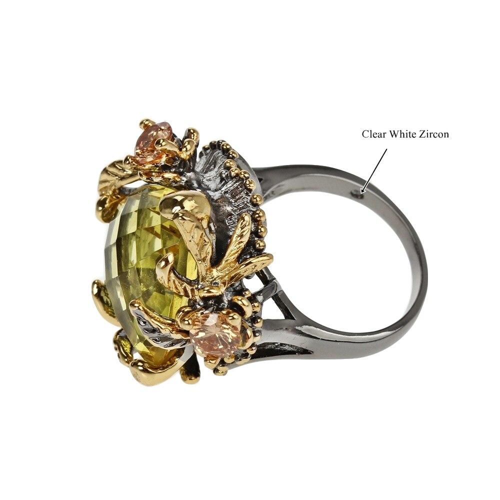 WA11666 golden zircon wedding engagement rings for women gothic flower jewelry (4)