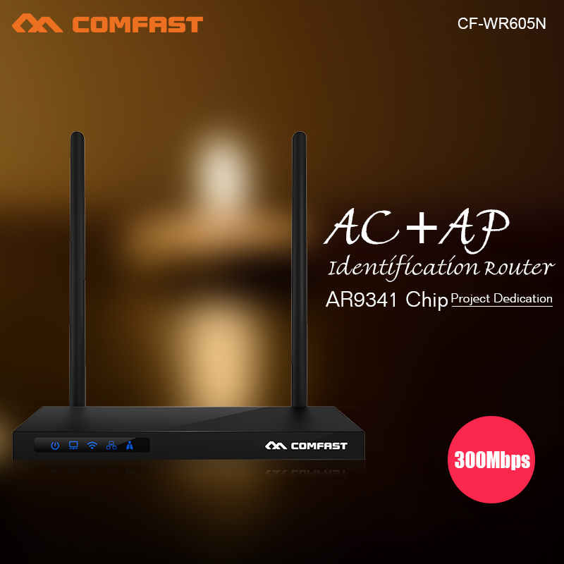 COMFAST 300Mbps Wireless Wifi Router AR9341 chipset IEEE802.11n roteador CF-WR605N AC+AP smart router with 1+3 RJ45 ports comfast full gigabit core gateway ac gateway controller mt7621 wifi project manager with 4 1000mbps wan lan port 880mhz cf ac200
