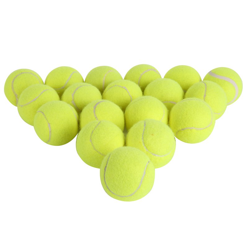 18pcs/set Tennis Balls With Net Outdoor Fun Cricket Beach Dog High Quality Sport Training Ship From USA Sports Tournament