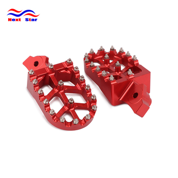 Motorcycle CNC Foot Rests Footrest Footpegs Pegs Pedals For HONDA KAWASAKI XR50R XR70R XR80R XR100R 2000-2005 KLR650 1987-2005