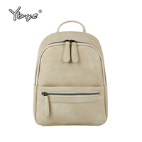 YBYT Brand 2018 New Vintage Casual Soft PU Leather Rucksack Small Multi Purpose Women Bags Girls