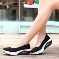2018 new fashion casual sports shoes Thick bottom breathable and deodorant women's shoes