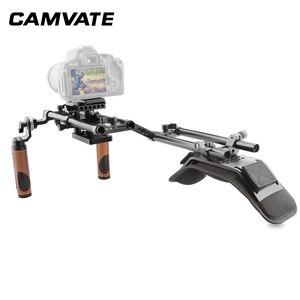 Image 2 - CAMVATE Camera Shoulder Rig With Foam Shoulder Pad & ARRI Rosette Dual Rod Clamp &Handle Grip For DSLR Camera Support System New