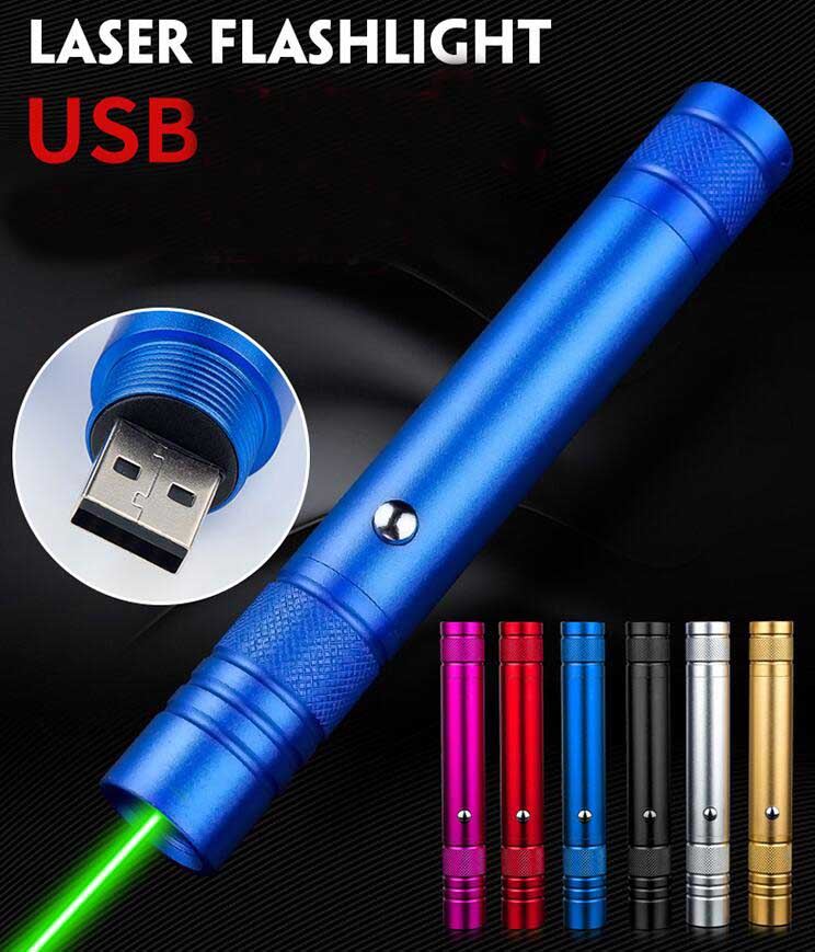Home 2018 New Usb Rechargeable Laser Pointer Red Green Light Long Shot Sandbox Sales Pointer Pen Laser Light 6 Colors Body With Traditional Methods