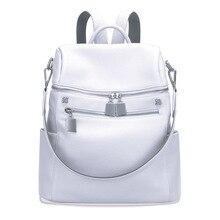 Aodux 100% 本物の本物の牛革女性デザイナートラベルバックパックバッグ第一層牛革女の子女性シルバーリュックサック