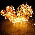 holiday Lighting String 10M 33Ft 100 Leds Starry Silver Copper Wire Wire Warm White StringLight DC Power l61207