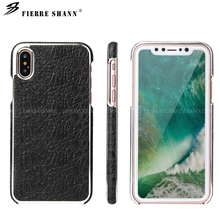 ФОТО fierre shann luxury crocodile pattern leather case with stealth magnetic function for iphone 7 plus for iphone 7 hard back cover
