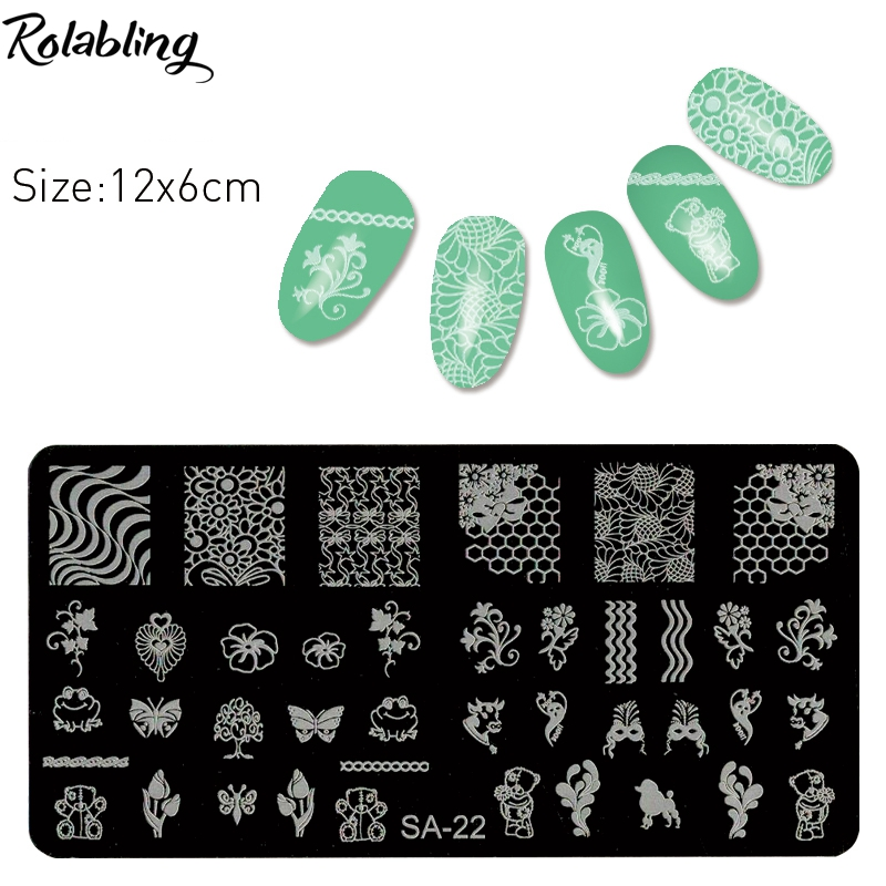 ツ)_/¯Rolabling New Nail Art Plate Stainless Steel Manicure Pedicure ...