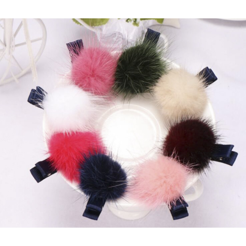 Rabbit Fur Ball Hairpins Cute Baby Girls Headwear Children Accessories Elastic Hairbands Kids Hair Ropes Kawaii Hair Clip fashion snake printed thigh high boots med heels slip on over the knee boots autumn winter party banquet prom shoes woman