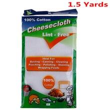 1,5 ярд Сырная ткань отбеленная ширина Марля Для сыроделия ткань муслин кухонные инструменты для приготовления пищи