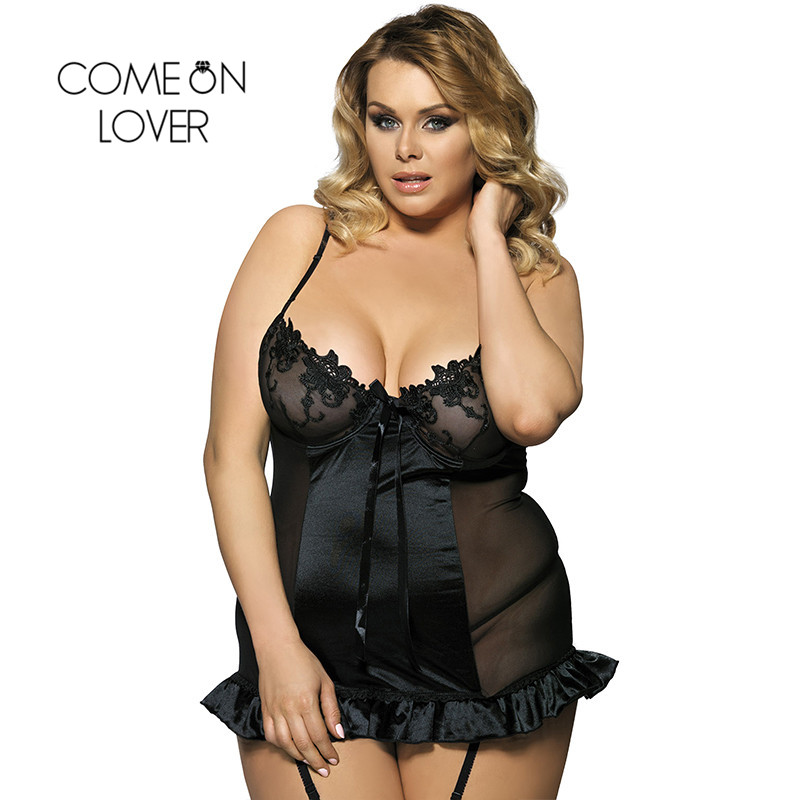 Comeonlover Erotic Lingerie Porno Costumes Sexy Baby doll Mujer Embroidery Bra Ruffle Croch Back Intimo Donna Sexy Hot RI7429