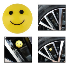 2pcs Motorcycle Smile Tyre Valve Stem Cap