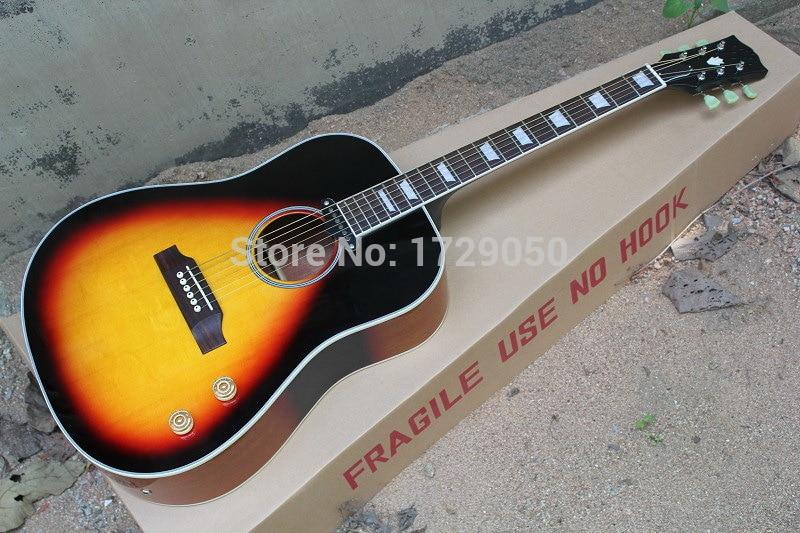 chinese factory custom j160 vs vintage acoustic guitar sunburst j160 acoustic guitar with sound. Black Bedroom Furniture Sets. Home Design Ideas