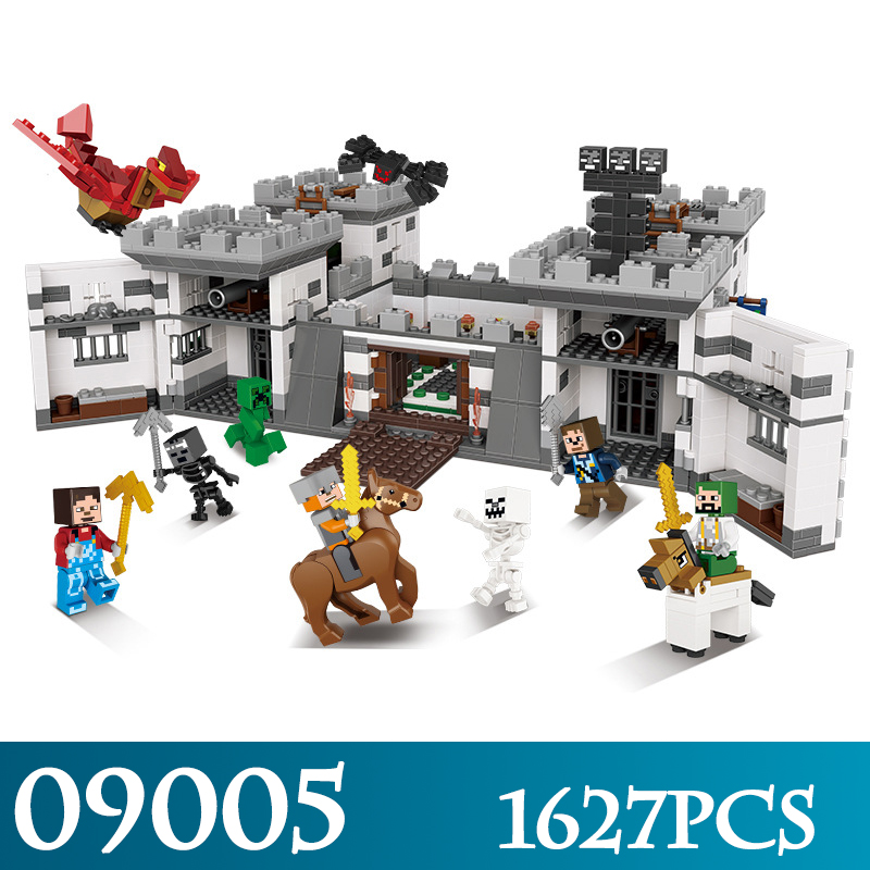 My World Series 09005 1627pcs The Castle of Holy War Set Model Building Kits Compatible LegoINGLYs Educational Blocks Toys in stock xingbao 09005 1627pcs blocks series the castle of holy war set educational building blocks bricks boy toys model gifts