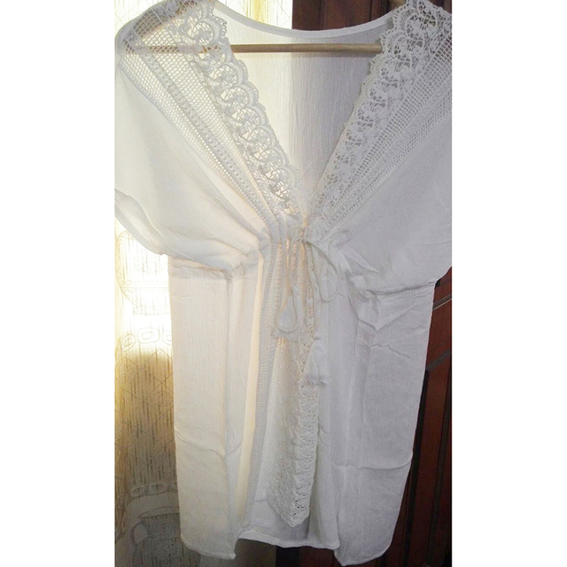 Beach Cover-up White Lace