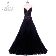 Rosetic Gothic Maxi Jurk Zwarte Vrouwen Zomer Kant A lijn Goth Lange Casual Mode Bandjes Party Top Hollow Lace Prom Gown 2018