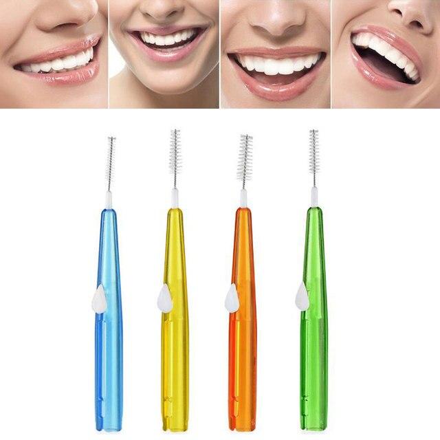 8 unids/pack dientes cepillo Interdental odontología equipo selección Interdental limpieza Oral Care Tool